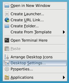 Xfce Desktop Settings