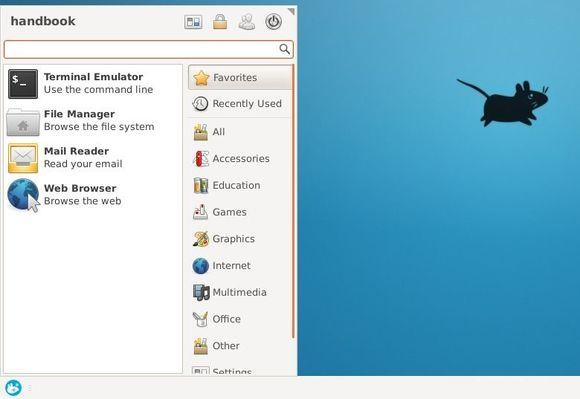 Whisker Menu in Xfce4