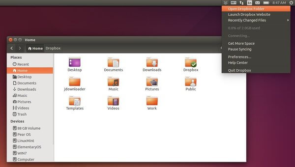 Dropbox in Ubuntu 14.04