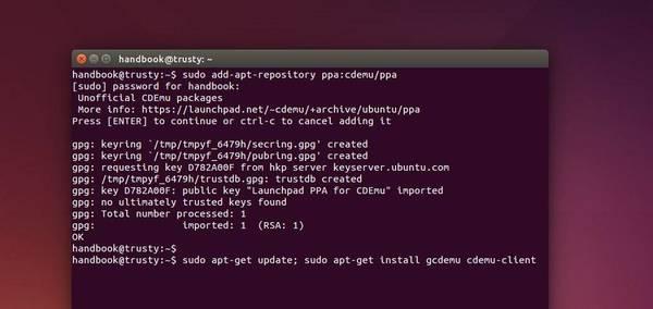 Install cdemu in Ubuntu