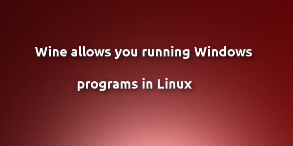 Wine running windows app in Linux