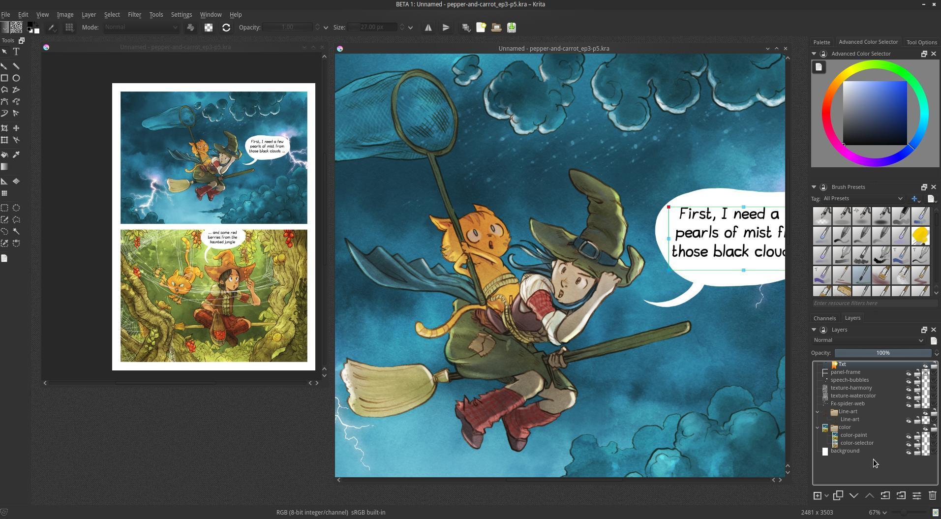 How To Split The Canvas Clip Studio Paint