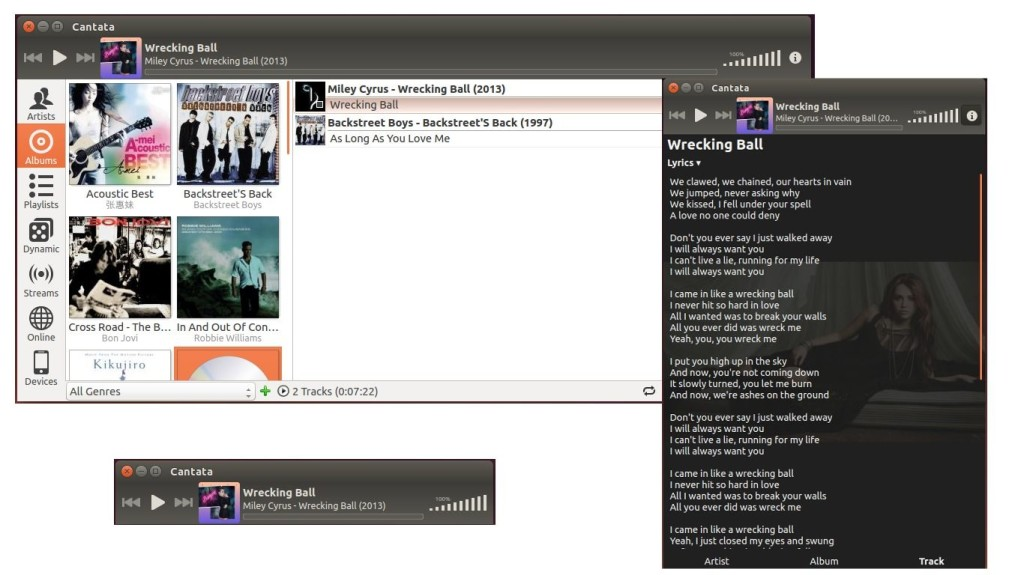 Cantata Music Player Client