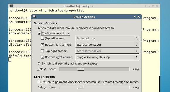Enable Hot Corners for Xfce