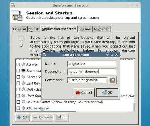 xfce-startup-application