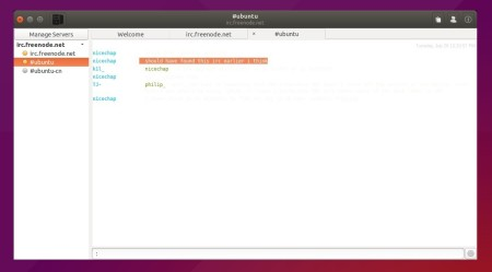 Relay Irc client in Gnome