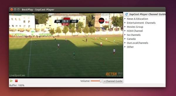 Sopcast Player in Ubuntu Unity