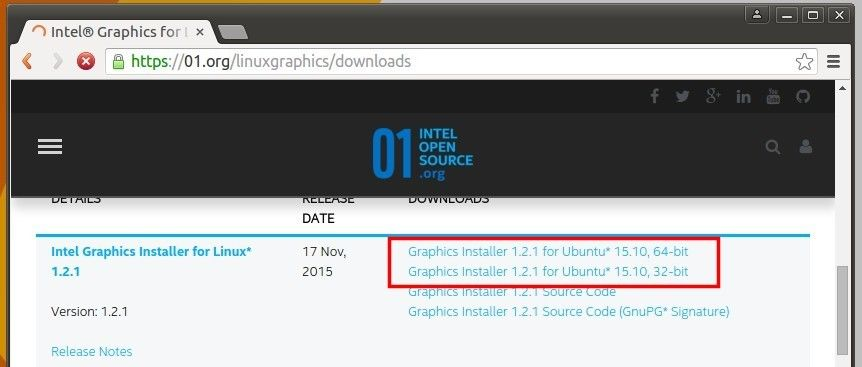Install Intel Graphics Installer in Ubuntu 15 10