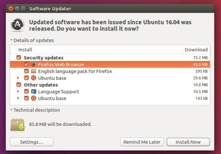 upgrade firefox 46
