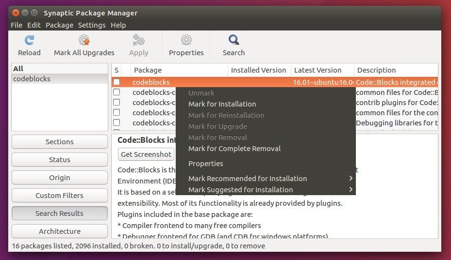 How to Install Code::Blocks IDE 16 01 in Ubuntu 16 04