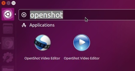 launch OpenShot video editor