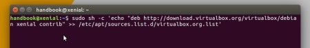 Virtualbox Official Linux repository