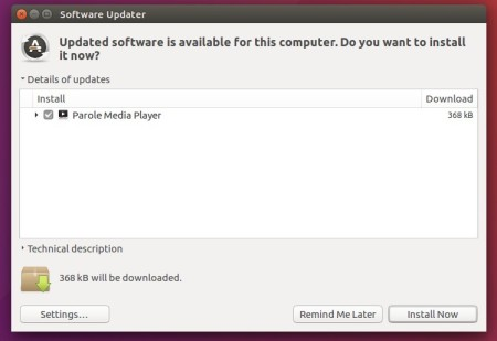 upgrade parole media player