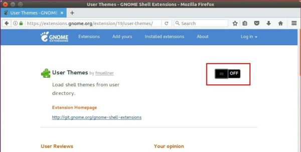 User Themes extension
