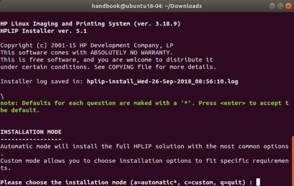 HPLIP 3 18 9 Released with Linux Mint 19, Debian 9 5 Support