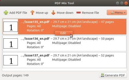 Right click edit PDF