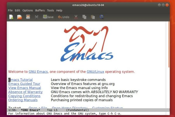 How to Install GNU Emacs 26 1 in Ubuntu 18 04, 16 04, 18 10
