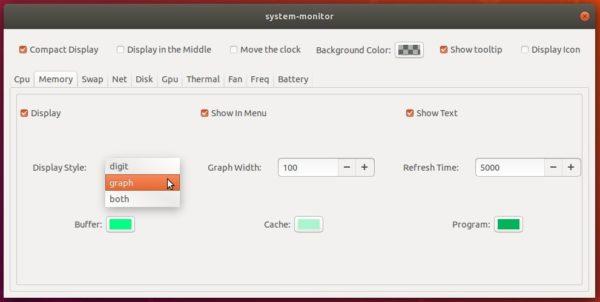 Display CPU / Memory / Network Usage in Ubuntu 18 04 Panel
