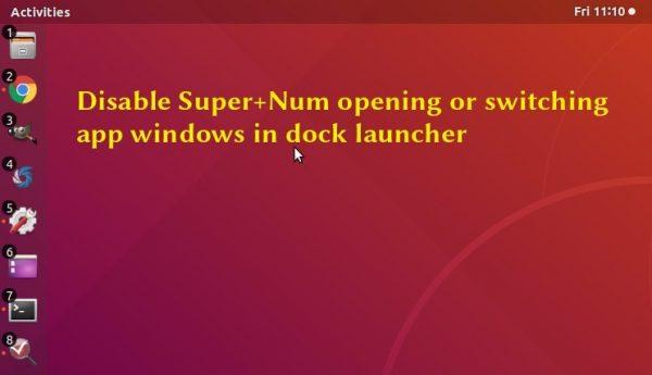 Disable Super + Num Function Keys in Ubuntu 18 04, 19 04