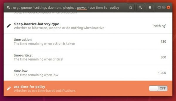 How to Change Battery Critical Low Action in Ubuntu 18 04